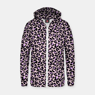 Thumbnail image of Pastel leopard fur II Zip up hoodie, Live Heroes