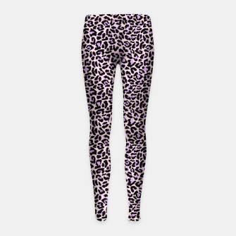 Thumbnail image of Pastel leopard fur II Girl's leggings, Live Heroes