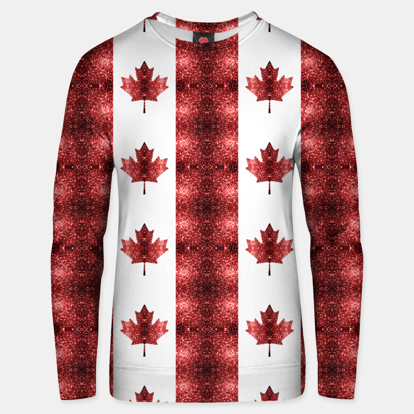Image of Canada flag red sparkles pattern Unisex sweater - Live Heroes
