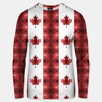 Canada flag red sparkles pattern Unisex sweater thumbnail image