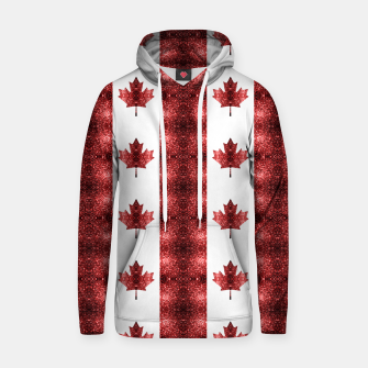 Thumbnail image of Canada flag red sparkles pattern Hoodie, Live Heroes