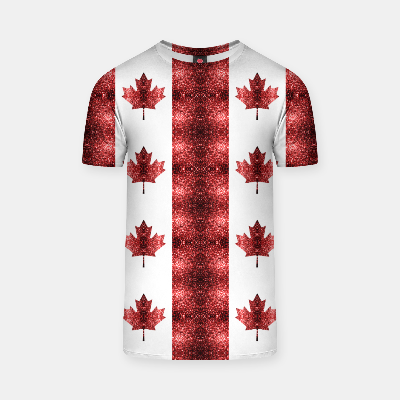 Image of Canada flag red sparkles pattern T-shirt - Live Heroes