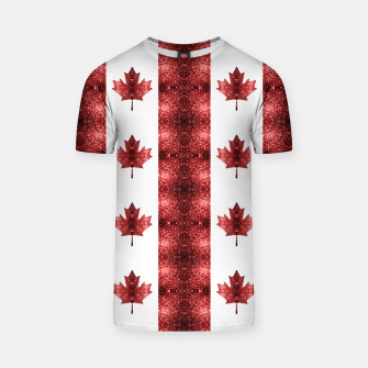 Thumbnail image of Canada flag red sparkles pattern T-shirt, Live Heroes