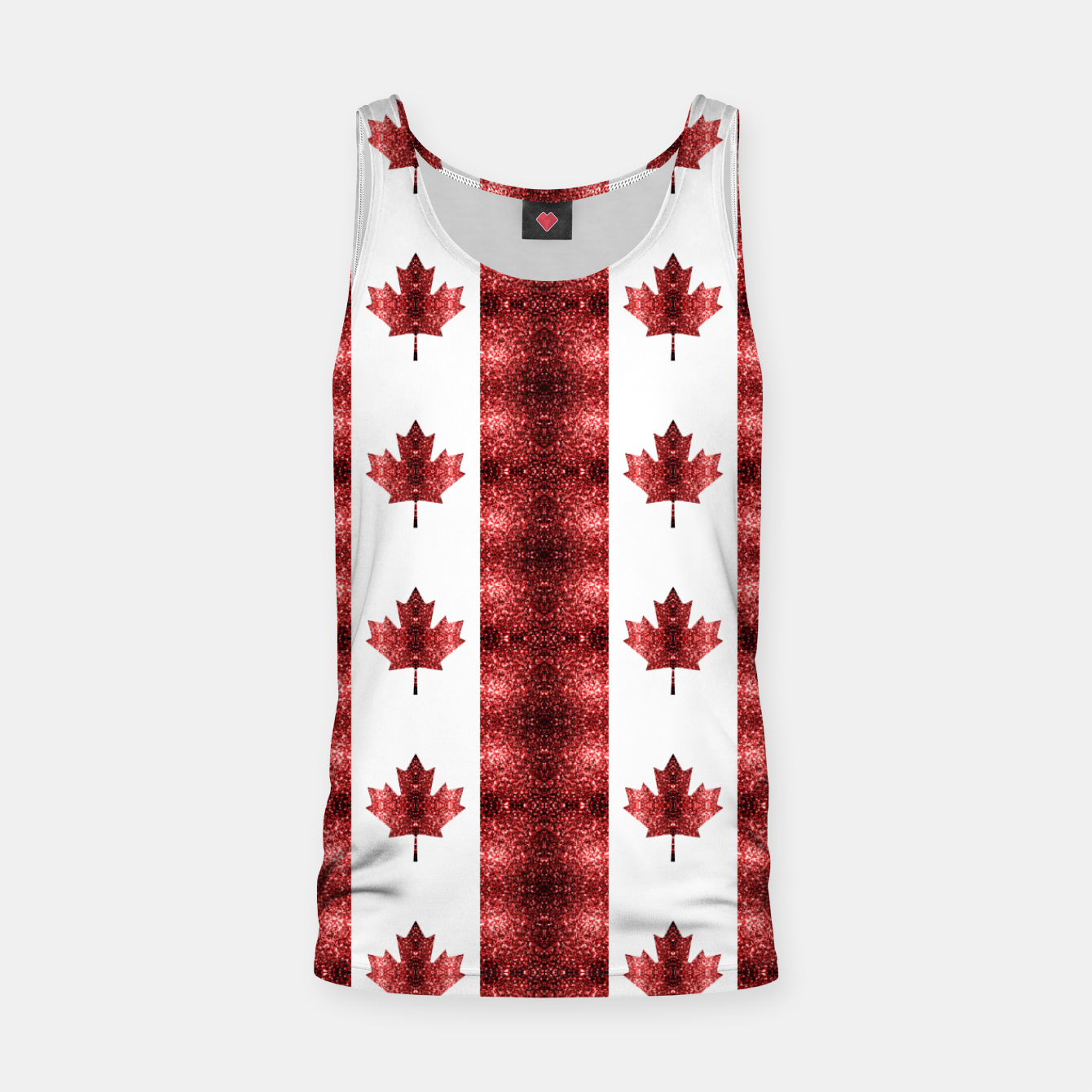 Image of Canada flag red sparkles pattern Tank Top - Live Heroes