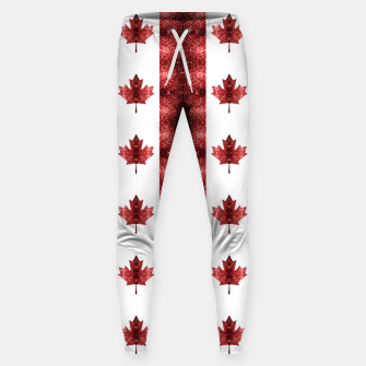 Thumbnail image of Canada flag red sparkles pattern Sweatpants, Live Heroes