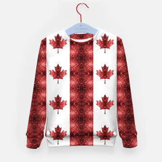 Canada flag red sparkles pattern Kid's sweater thumbnail image