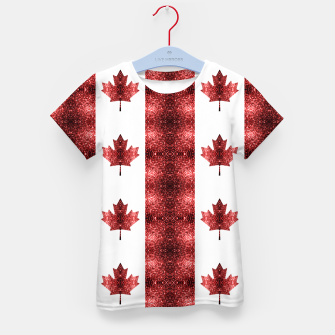 Thumbnail image of Canada flag red sparkles pattern Kid's t-shirt, Live Heroes