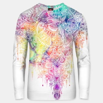 "Miniaturka Heart in Colorful Galaxy Mandala - ""faith"" Unisex sweater, Live Heroes"