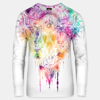 "Miniaturka Eyes in galaxy colorful Mandala - ""separation"" Unisex sweater, Live Heroes"