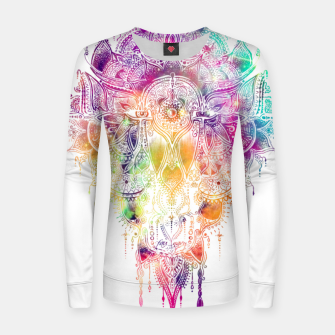 "Thumbnail image of Eyes in galaxy colorful Mandala - ""separation"" Women sweater, Live Heroes"