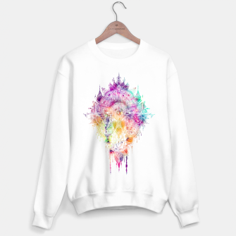 "Miniaturka Eyes in galaxy colorful Mandala - ""separation"" Sweater regular, Live Heroes"