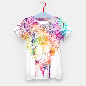 "Miniaturka Eyes in galaxy colorful Mandala - ""separation"" Kid's t-shirt, Live Heroes"