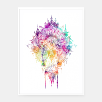 "Miniaturka Eyes in galaxy colorful Mandala - ""separation"" Framed poster, Live Heroes"