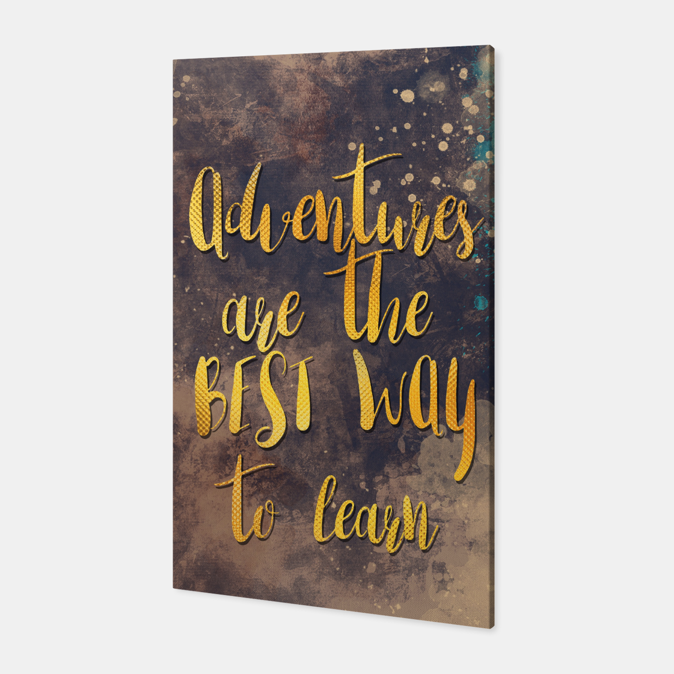 Image of Adventures are the best way to learn #motivationalquote Canvas - Live Heroes