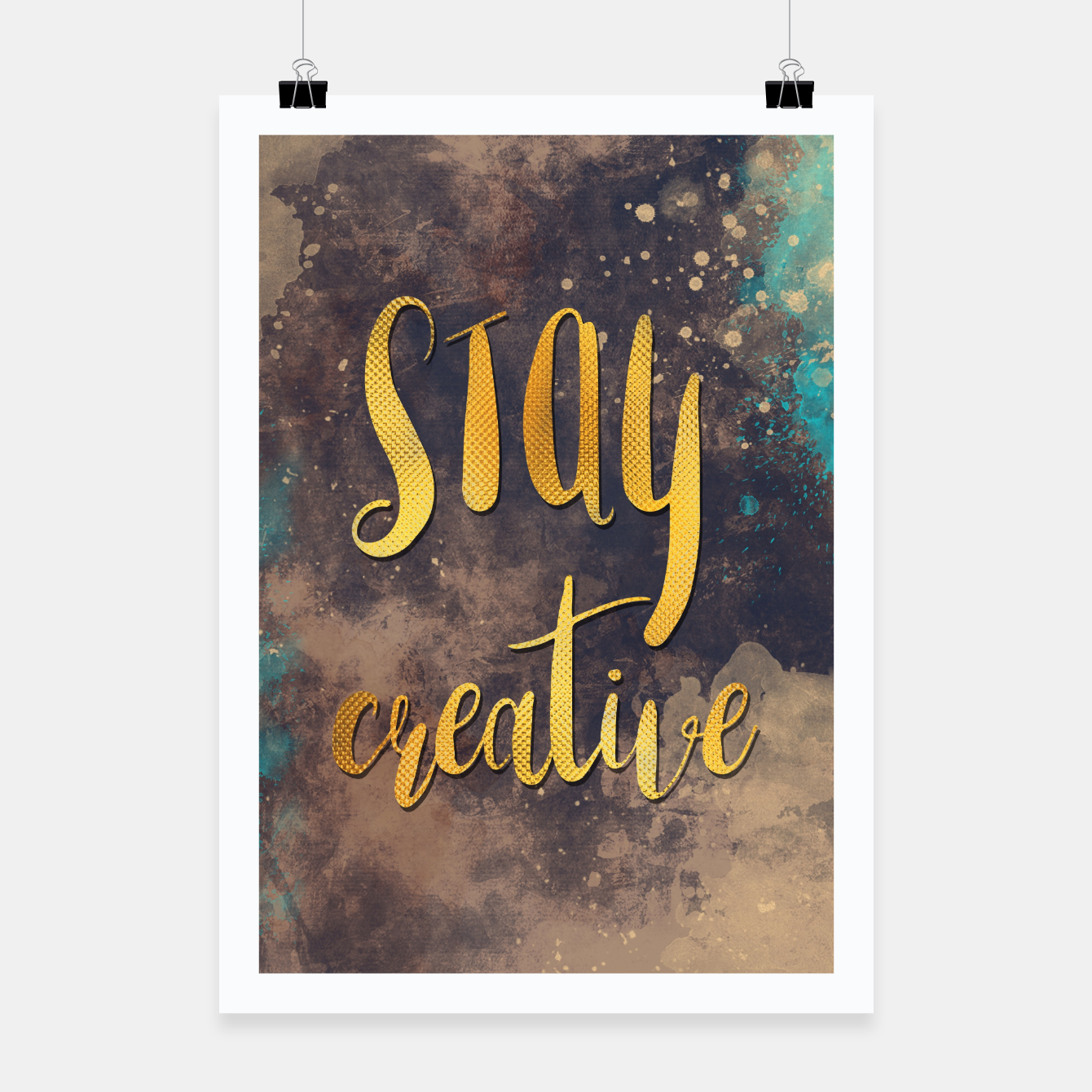 Image of Stay creative #motivationialquote Plakat - Live Heroes