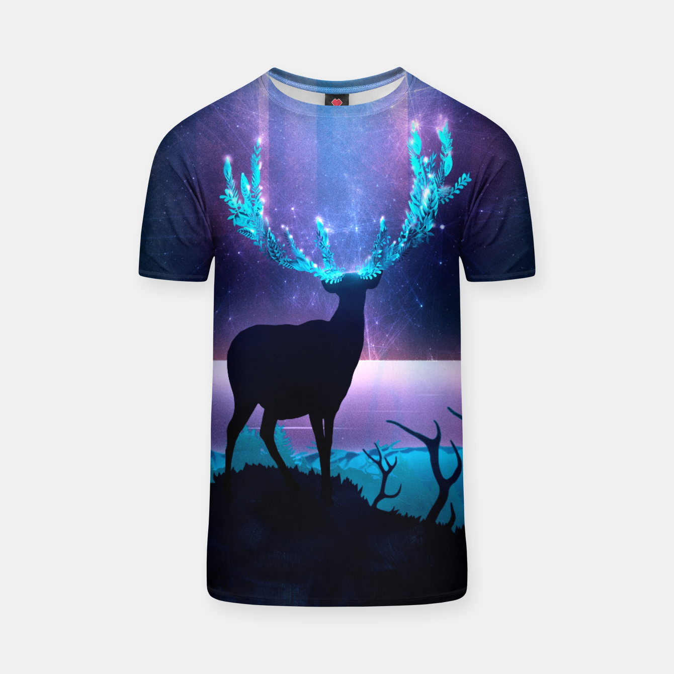Image of Greenery Deer - Sterling Magenta T-Shirt - Live Heroes