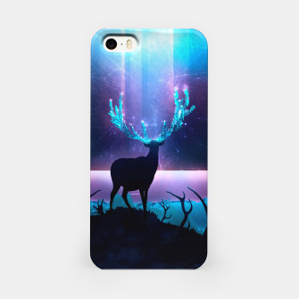 Greenery Deer - Sterling Magenta iPhone-Hülle thumbnail image