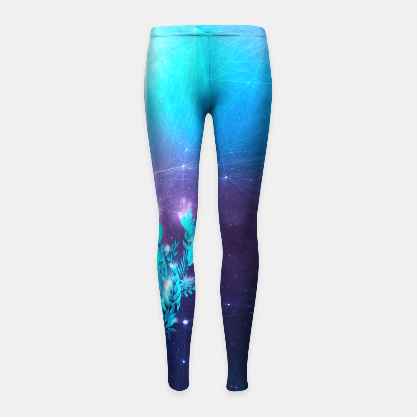 Image of Greenery Deer - Sterling Magenta Kinder-Leggins - Live Heroes