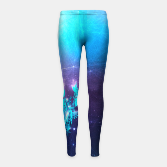 Thumbnail image of Greenery Deer - Sterling Magenta Kinder-Leggins, Live Heroes