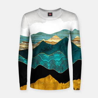 Thumbnail image of Turquoise Vista Women sweater, Live Heroes