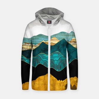 Thumbnail image of Turquoise Vista Zip up hoodie, Live Heroes
