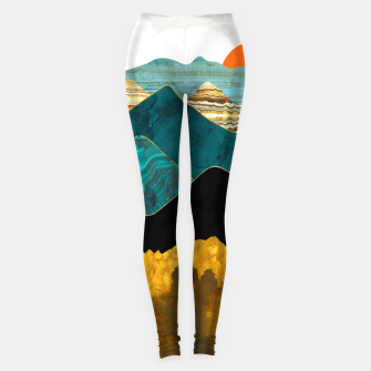 Thumbnail image of Turquoise Vista Leggings, Live Heroes