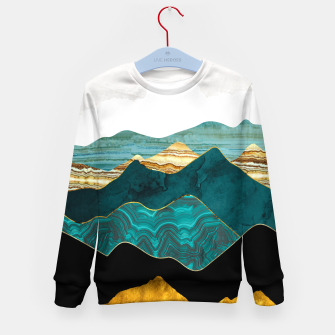 Thumbnail image of Turquoise Vista Kid's sweater, Live Heroes
