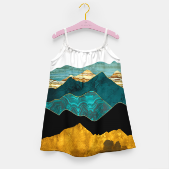 Miniatur Turquoise Vista Girl's dress, Live Heroes