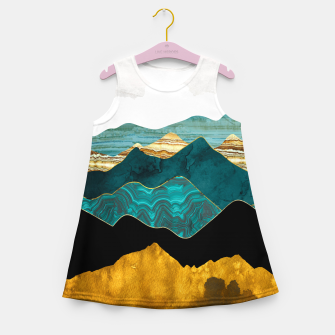 Miniature de image de Turquoise Vista Girl's summer dress, Live Heroes