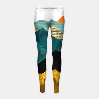 Thumbnail image of Turquoise Vista Girl's leggings, Live Heroes