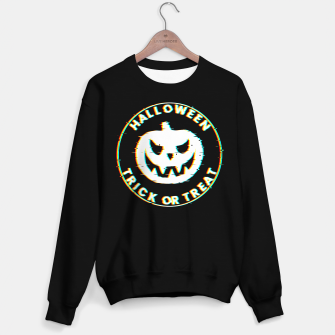 Thumbnail image of Halloween Pumpkin Scary Face Glitch Effect Sudadera regular, Live Heroes