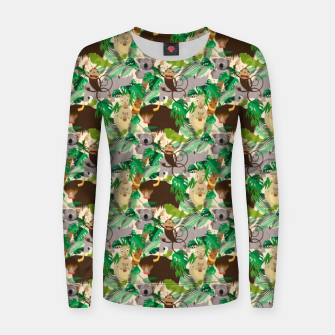 Miniatur Animals in the Jungle – Women sweater, Live Heroes