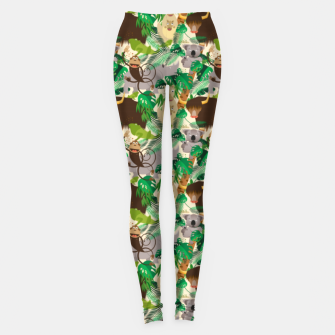 Miniatur Animals in the Jungle – Leggings, Live Heroes