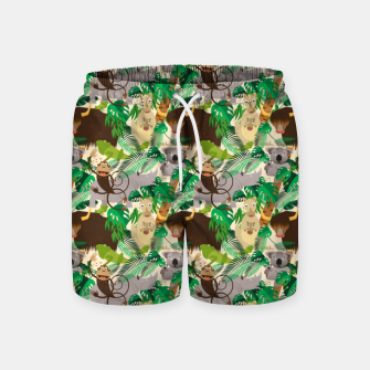 Miniatur Animals in the Jungle – Swim Shorts, Live Heroes