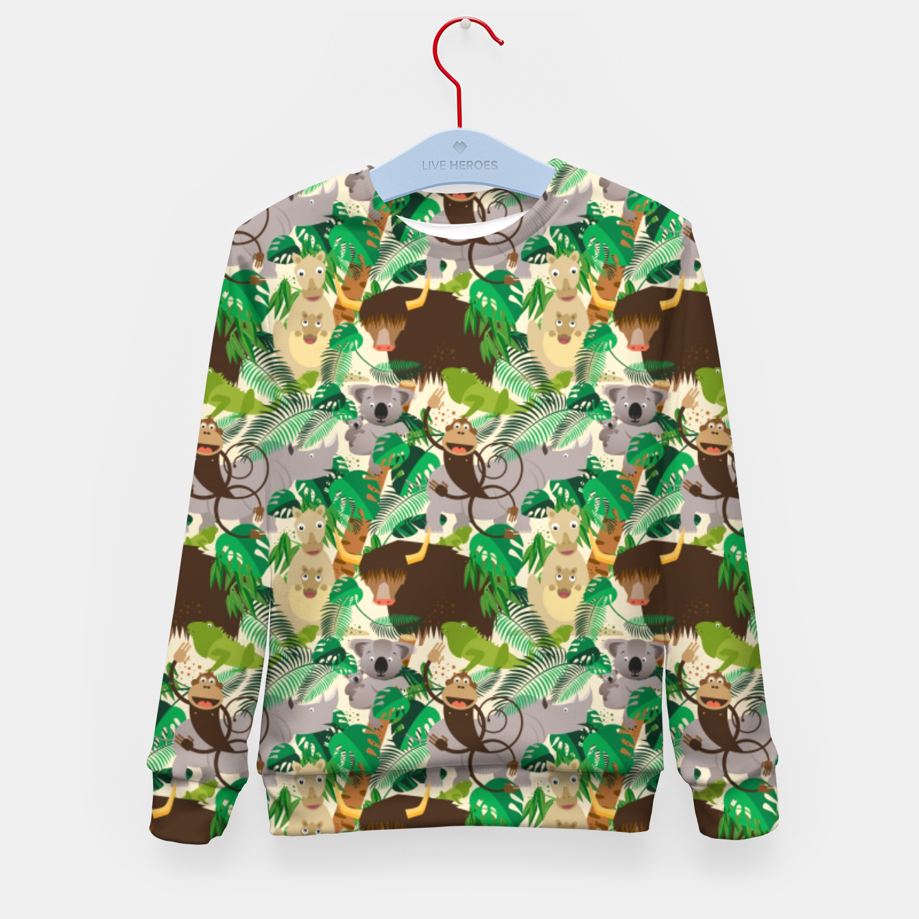 Image of Animals in the Jungle – Kid's sweater - Live Heroes