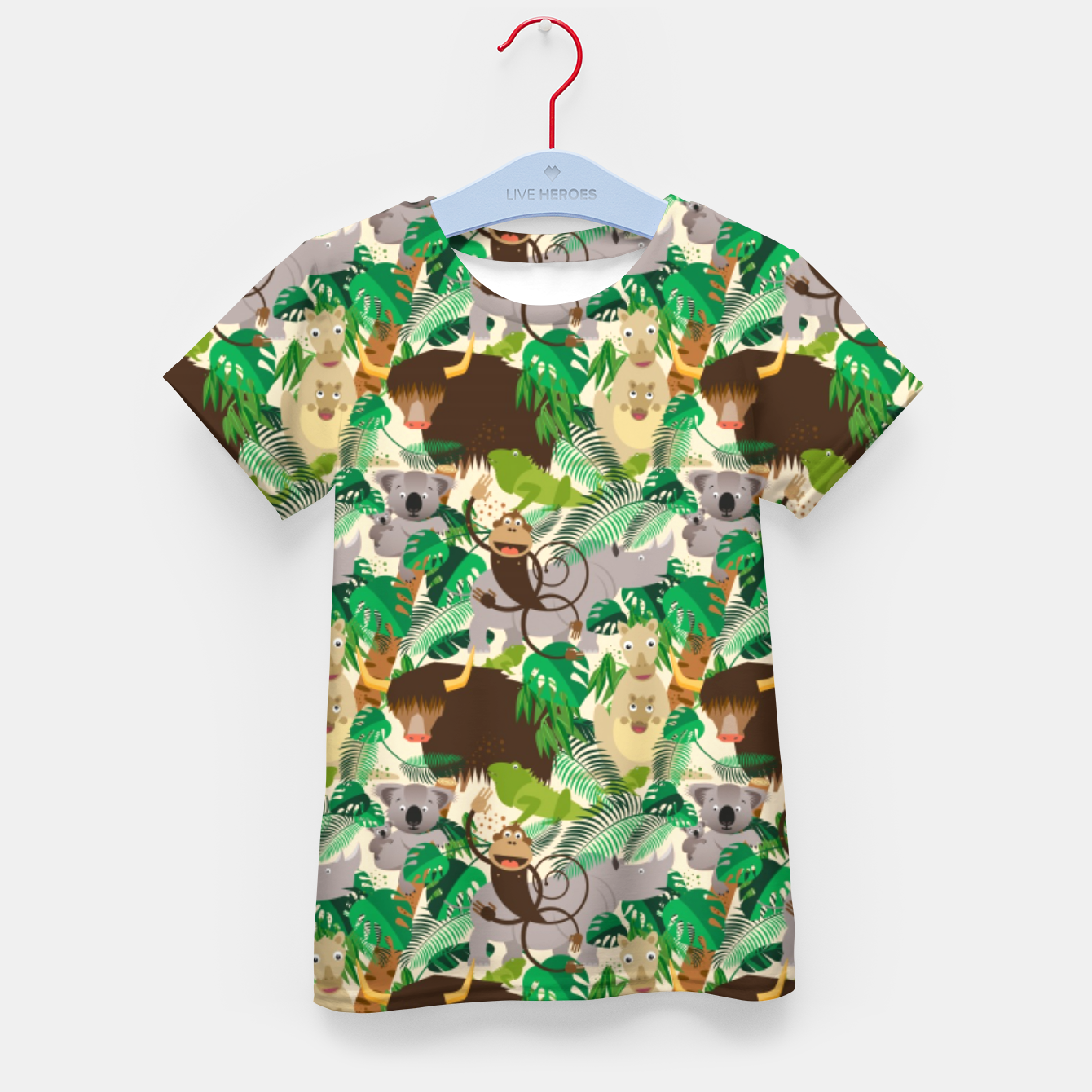 Image of Animals in the Jungle – Kid's t-shirt - Live Heroes