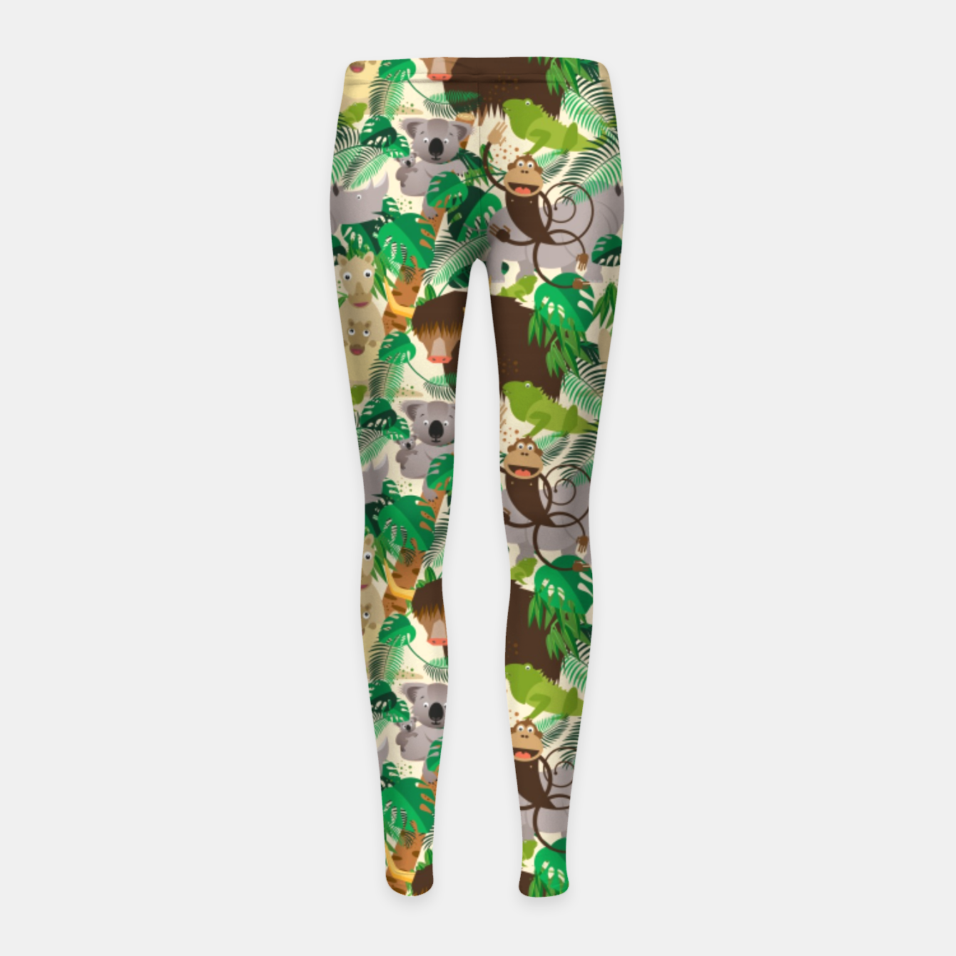 Image of Animals in the Jungle – Girl's leggings - Live Heroes