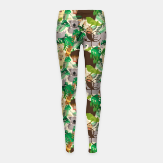 Miniatur Animals in the Jungle – Girl's leggings, Live Heroes