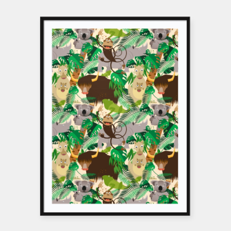 Miniatur Animals in the Jungle – Framed poster, Live Heroes