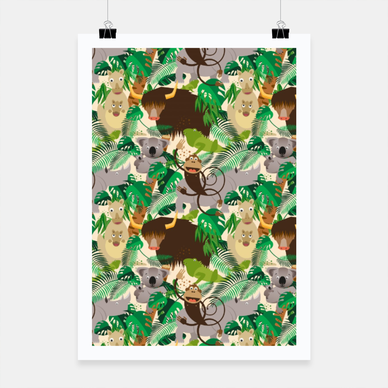 Image of Animals in the Jungle – Poster - Live Heroes