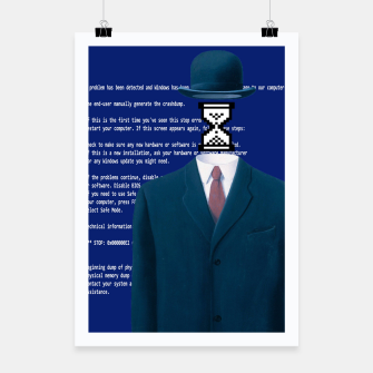 Thumbnail image of Magritte hourglass Poster, Live Heroes