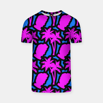 Thumbnail image of Vaporwave pattern T-shirt, Live Heroes
