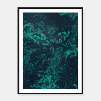 Thumbnail image of Teal Smoke Framed poster, Live Heroes