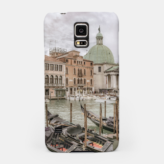 Thumbnail image of Gondolas Parked at Grand Canal, Venice, Italy Samsung Case, Live Heroes