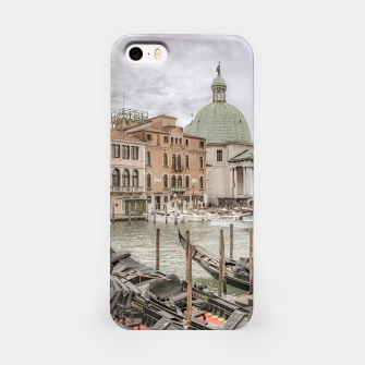Thumbnail image of Gondolas Parked at Grand Canal, Venice, Italy iPhone Case, Live Heroes