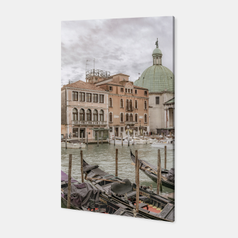Thumbnail image of Gondolas Parked at Grand Canal, Venice, Italy Canvas, Live Heroes