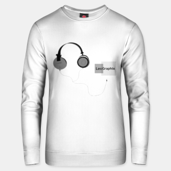 Thumbnail image of headphones Unisex sweater, Live Heroes