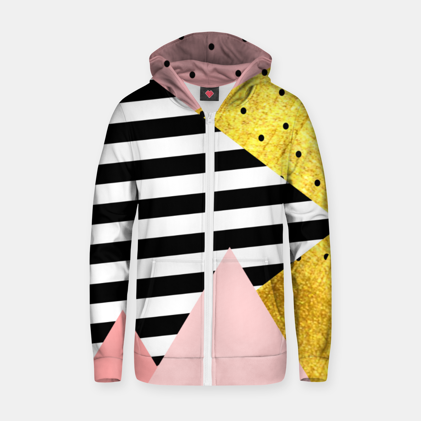 Image de Fall Abstraction Pink Zip up hoodie - Live Heroes