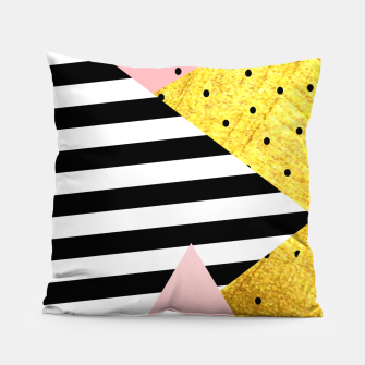 Fall Abstraction Pink Pillow imagen en miniatura