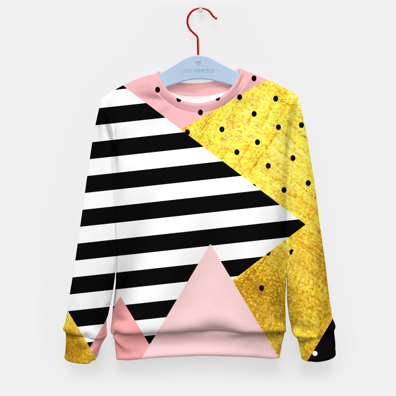 Image de Fall Abstraction Pink Kid's sweater - Live Heroes